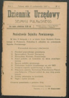 Dziennik Urzędowy Sejmiku Puławskiego.R. 1, Nr 4 (1923)