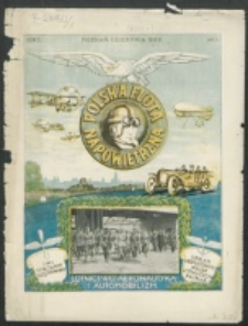 Polska Flota Napowietrzna. R. 1, Nr 1 (1919)