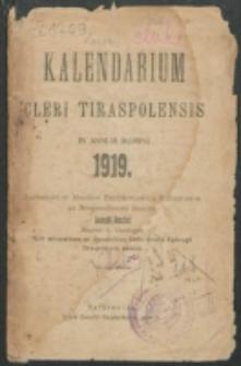 Kalendarium Cleri Tiraspolensis in Annum Domini 1919