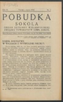 Pobudka Sokola : organ Dzielnicy Wielkopolskiej Związku Towarzystw Gimn. Sokół : miesięcznik Sokolic. R. 3, Nr 3 (1935)