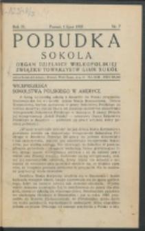 Pobudka Sokola : organ Dzielnicy Wielkopolskiej Związku Towarzystw Gimn. Sokół : miesięcznik Sokolic. R. 3, Nr 7 (1935)
