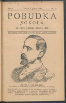 Pobudka Sokola : organ Dzielnicy Wielkopolskiej Związku Towarzystw Gimn. Sokół : miesięcznik Sokolic. R. 4, Nr 12 (1936)