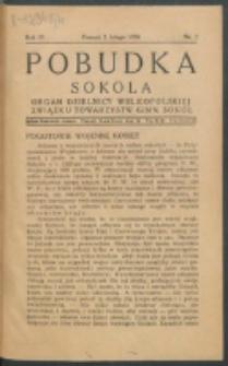 Pobudka Sokola : organ Dzielnicy Wielkopolskiej Związku Towarzystw Gimn. Sokół : miesięcznik Sokolic. R. 4, Nr 2 (1936)