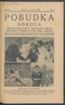 Pobudka Sokola : organ Dzielnicy Wielkopolskiej Związku Towarzystw Gimn. Sokół : miesięcznik Sokolic. R. 4, Nr 9 (1936)