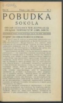 Pobudka Sokola : organ Dzielnicy Wielkopolskiej Związku Towarzystw Gimn. Sokół : miesięcznik Sokolic. R. 3, Nr 5 (1935)