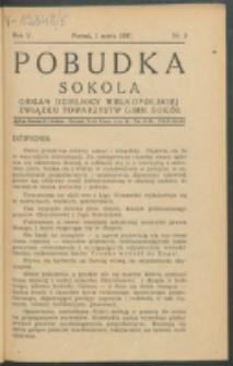 Pobudka Sokola : organ Dzielnicy Wielkopolskiej Związku Towarzystw Gimn. Sokół : miesięcznik Sokolic. R. 5, Nr 3 (1937)