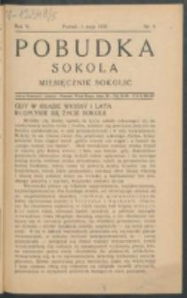 Pobudka Sokola : organ Dzielnicy Wielkopolskiej Związku Towarzystw Gimn. Sokół : miesięcznik Sokolic. R. 5, Nr 5 (1937)