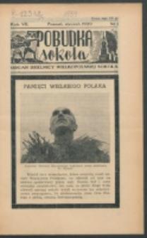 Pobudka Sokola : organ Dzielnicy Wielkopolskiej Związku Towarzystw Gimn. Sokół : miesięcznik Sokolic. R. 7, Nr 1 (1939)