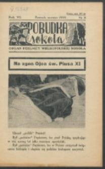 Pobudka Sokola : organ Dzielnicy Wielkopolskiej Związku Towarzystw Gimn. Sokół : miesięcznik Sokolic. R. 7, Nr 3 (1939)