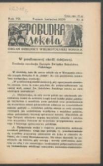 Pobudka Sokola : organ Dzielnicy Wielkopolskiej Związku Towarzystw Gimn. Sokół : miesięcznik Sokolic. R. 7 (1939)