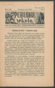Pobudka Sokola : organ Dzielnicy Wielkopolskiej Związku Towarzystw Gimn. Sokół : miesięcznik Sokolic. R. 7, Nr 5 (1939)