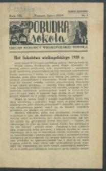 Pobudka Sokola : organ Dzielnicy Wielkopolskiej Związku Towarzystw Gimn. Sokół : miesięcznik Sokolic. R. 7, Nr 7 (1939)