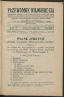 """Przewodnik Miłosierdzia : miesięcznik Związku Towarzystw Dobroczynności """"Caritas"""" i Rad Wyższych Kongregacji św. Wincentego à Paulo męskich i żeńskich. R. 5, Nr 11 (1926)."""