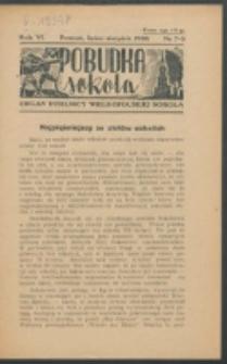 Pobudka Sokola : organ Dzielnicy Wielkopolskiej Związku Towarzystw Gimn. Sokół : miesięcznik Sokolic. R. 6, Nr 7/8 (1938)