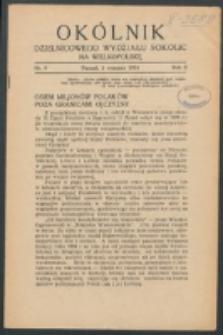 Okólnik Dzielnicowego Wydziału Sokolic na Wielkopolskę. R. 2, nr 9 (1934)