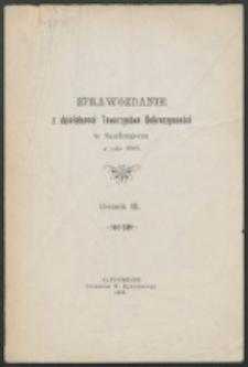 Sprawozdanie z Działalności Towarzystwa Dobroczynności w Sandomierzu w Roku 1908