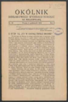Okólnik Dzielnicowego Wydziału Sokolic na Wielkopolskę. R. 2, nr 10 (1934)