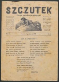 Szczutek. R. 1, nr 1 (1918)