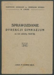 ... Sprawozdanie Dyrekcji Gimnazjum Państwowego im. St. Staszica w Lublinie 1931/32