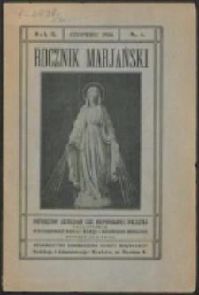 Rocznik Mariański. R. 2, nr 6 (1926)