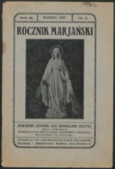 Rocznik Mariański. R. 3, nr 3 (1927)