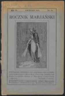 Rocznik Mariański. R. 4 , nr 12 (1928)