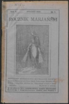 Rocznik Mariański. R. 5, nr 1 (1929)