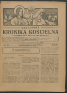 Krakowska Kronika Kościelna R. 2, nr 20 (1922)
