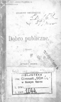 Dobro publiczne : fraszki / Zygmunt Niedźwiecki.