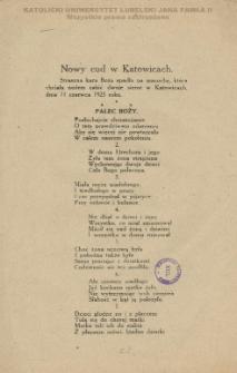Nowy cud w Katowicach : straszna kara Boża spadła na macochę, która chciała nożem zabić dwoje sierot w Katowicach, dnia 11 czerwca 1923 roku.