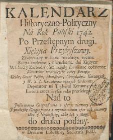 Kalendarz Historyczno-Polityczny na Rok Pański [...].