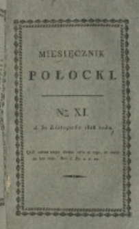 Miesięcznik Połocki T. 3, nr 11 (1818)