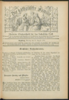 Die Katholische Familie. R. 6, no. 34 (1899)