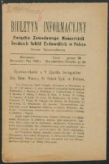Biuletyn Informacyjny. Kwiecień-Maj (1926)