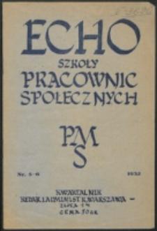 Echo Szkoły Pracownic Społecznych. R. 3, nr 5/6 (1932)