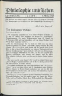 Philosophie und Leben. Jg. 5, H. 4 (1929)