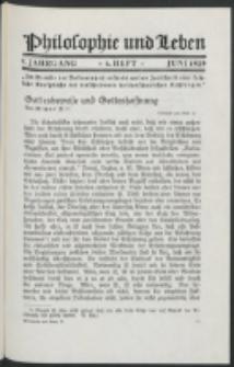 Philosophie und Leben. Jg. 5, H. 6 (1929)