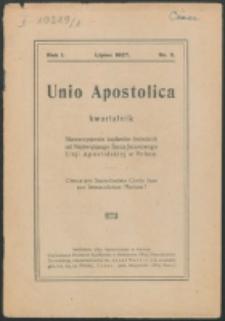Unio Apostolica. R. 1, nr 3 (1927)