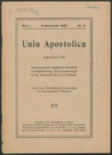 Unio Apostolica. R. 1, nr 4 (1927)