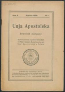 Unio Apostolica. R. 3, nr 1 (1929)