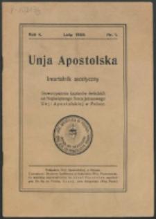 Unja Apostolska. R. 4, nr 1 (1930)