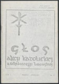 Głos Akcji Katolickiej Archidiecezji Lwowskiej. R. 1, nr 2 (1935)