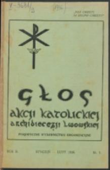 Głos Akcji Katolickiej Archidiecezji Lwowskiej. R. 2, nr 1 (1936)