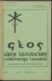 Głos Akcji Katolickiej Archidiecezji Lwowskiej. R. 2, nr 4 (1936)