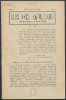 Głos Akcji Katolickiej Archidiecezji Lwowskiej. R. 4, nr 1 (1938)