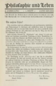 Philosophie und Leben. Jg. 4, H. 1 (1928)