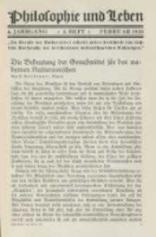 Philosophie und Leben. Jg. 4, H. 2 (1928)