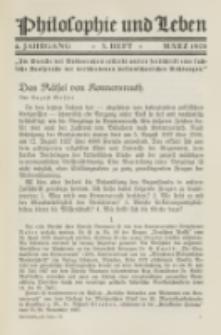 Philosophie und Leben. Jg. 4, H. 3 (1928)