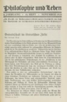 Philosophie und Leben. Jg. 4, H. 11 (1928)