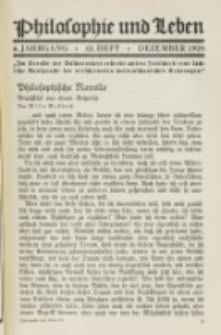 Philosophie und Leben. Jg. 4, H. 12 (1928)